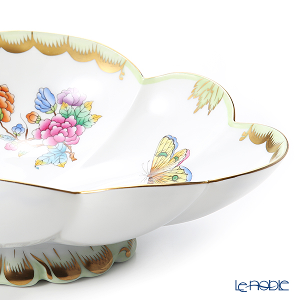 Herend Queen Victoria / Victoria avec Bord en Or VBO 07547-0-00 Oval Dish (Flower shape) 23.5x14.5cm