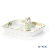Herend Queen Victoria / Victoria avec Bord en Or VBO 07733-0-21 Rectangular Tray with Mandarin 8x6.7cm