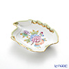 Herend 'Queen Victoria / Victoria avec Bord en Or' VBO 07774-0-00 Leaf shape Ashtray 12cm