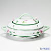 Herend 'Vienna Rose / Vieille Rose de Herend' VRH 00086-0-09/91 Vegetable Dish with handles / lid (Roses) 24.3cm