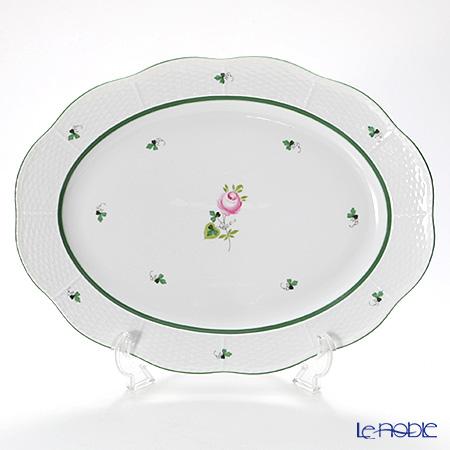 ヘレンド ウィーンのバラ 00102-0-00/102 オーバルプラター 36cm
