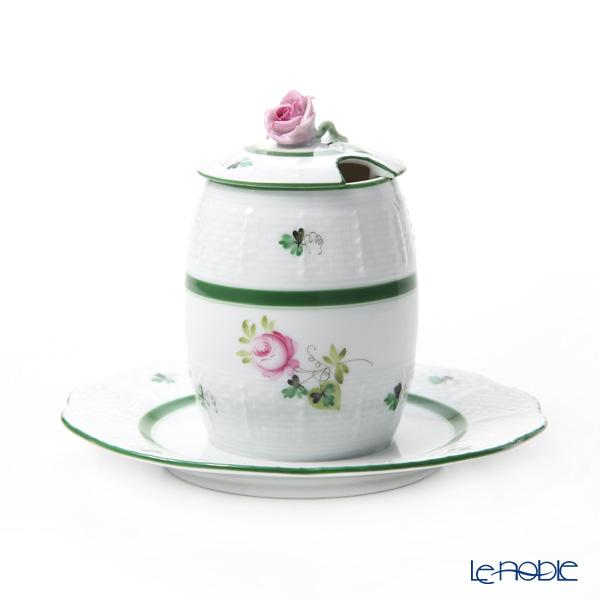 ヘレンド ウィーンのバラ マスタードポット ローズ 00242-7-09