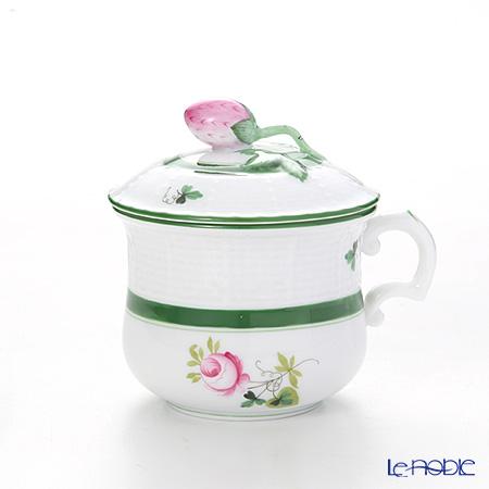Herend 'Vienna Rose / Vieille Rose de Herend' VRH 00385-0-11/739 Covered Cream Pot (Strawberry knob) 100ml