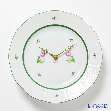 Herend 'Vienna Rose / Vieille Rose de Herend' VRH 00507-0-47 Wall Clock 23cm