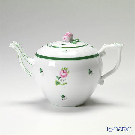 Herend 'Vienna Rose / Vieille Rose de Herend' VRH 00606-0-09/604 Tea Pot (Rose knob) 800ml