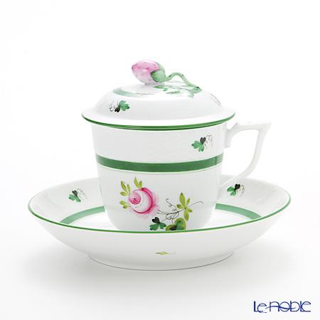ヘレンド ウィーンのバラ 00705-0-11/705 ハーブティーカップ&ソーサー(ストロベリー) 200cc