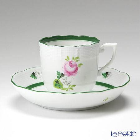 Herend 'Vienna Rose / Vieille Rose de Herend' VRH 00707-0-00/707 Mocha Coffee Cup & Saucer 150ml