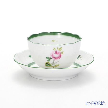 Herend 'Vienna Rose / Vieille Rose de Herend' VRH 00710-0-91 Japanese Cup & Saucer 130ml