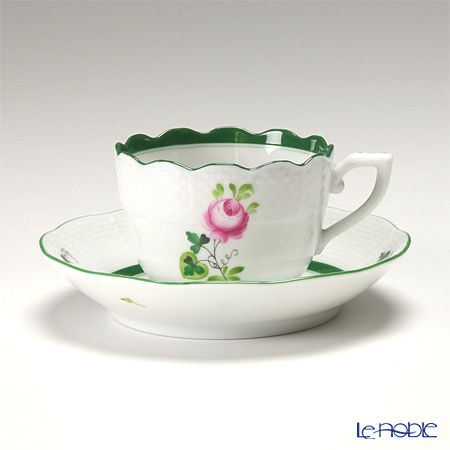 Herend 'Vienna Rose / Vieille Rose de Herend' VRH 00711-0-00 Mocha Coffee Cup & Saucer 100ml