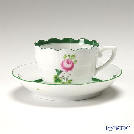 ヘレンド ウィーンのバラ 00711-0-00/711 モカカップ&ソーサー 100cc