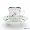 Herend 'Vienna Rose / Vieille Rose de Herend' VRH 00713-0-00/713 Chocolate Cup & Saucer with holder