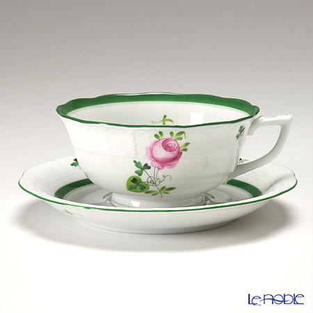 ヘレンド ウィーンのバラ 00734-0-00/734 ティーカップ&ソーサー(ロウ)