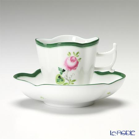 ヘレンド ウィーンのバラ 04198-0-00/4198 コーヒーカップ&ソーサー(楕円) 100cc