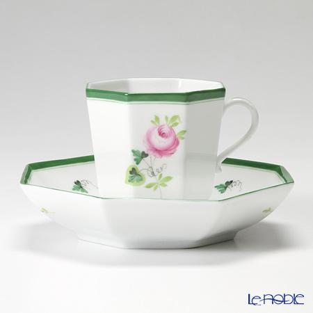 ヘレンド ウィーンのバラ 04304-0-00 オクタゴナルカップ&ソーサー
