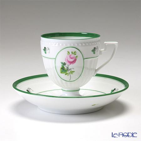 ヘレンド ウィーンのバラ 04467-0-00/4985 アンピールカップ&ソーサー