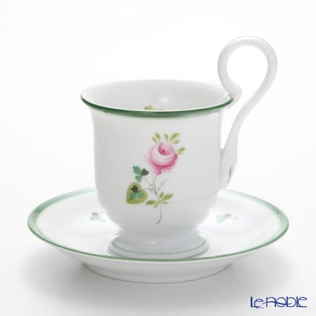 ヘレンド ウィーンのバラ 04911-1-00 コーヒーカップ&ソーサー(ハイハンドル)
