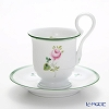 Herend 'Vienna Rose / Vieille Rose de Herend' VRH 04911-1-00 Coffee Cup & Saucer (footed, high handle)