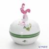 Herend 'Vienna Rose / Vieille Rose de Herend' VRH 06033-0-16 Round Box (Rooster knob) H9.5cm