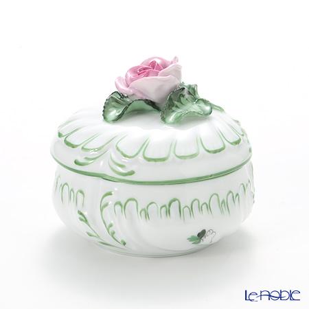 ヘレンド ウィーンのバラ 06036-0-09 ラウンドボックス(ローズ) 8cm