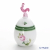 Herend 'Vienna Rose / Vieille Rose de Herend' VRH 06043-0-16 Standing Egg Box (Rooster knob) H10cm