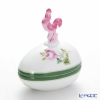 Herend 'Vienna Rose / Vieille Rose de Herend' VRH 06054-0-16 Lying Egg Box (Rooster knob) H9cm