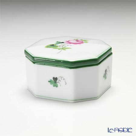 ヘレンド ウィーンのバラ 06104-0-00/6086 オクタゴナルボックス