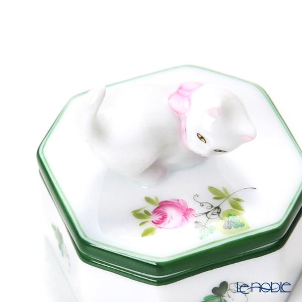 Herend 'Vienna Rose / Vieille Rose de Herend' VRH 06105-0-26 Octagonal Box (Cat knob)