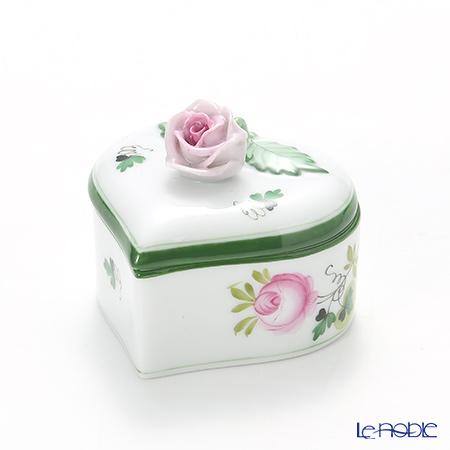 ヘレンド ウィーンのバラ 06111-0-09 ハートボックス(ローズ) 6cm