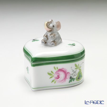 ヘレンド ウィーンのバラ 06111-0-70 ハートボックス(ゾウ)