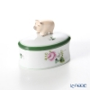 Herend 'Vienna Rose / Vieille Rose de Herend' VRH 06114-0-72 Oval Bononniere (Pig) 7x4.8cm