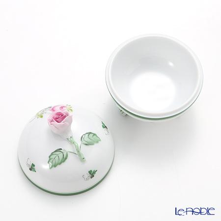 Herend 'Vienna Rose / Vieille Rose de Herend' VRH 06183-0-09 Footed Round Box (Rose knob) 8xH8.7 cm