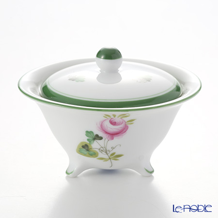 Herend 'Vienna Rose / Vieille Rose de Herend' VRH 06193-0-15 Footed Round Box
