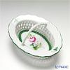 Herend 'Vienna Rose / Vieille Rose de Herend' VRH 07382-0-00 Oval Basket with handle (openwork) H5cm