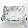 Herend 'Vienna Rose / Vieille Rose de Herend' VRH 07406-0-00 Square Basket / Bowl (openwork) 24.5cm