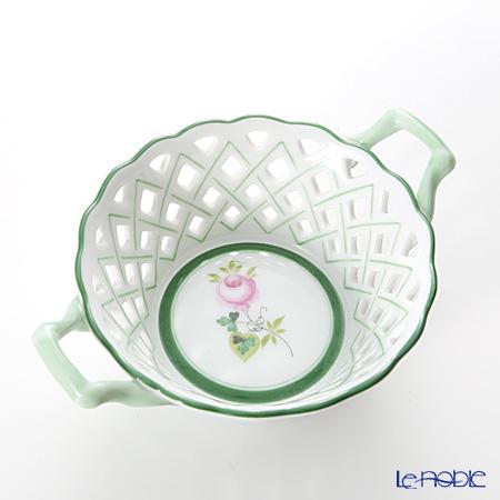 Herend Vienna Rose / Vieille Rose de Herend VRH 07413-0-00/7413 Round Basket (with handles, openwork) H5cm