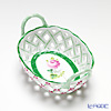 Herend 'Vienna Rose / Vieille Rose de Herend' VRH 07425-0-00 Oval Basket (with handle, openwork)