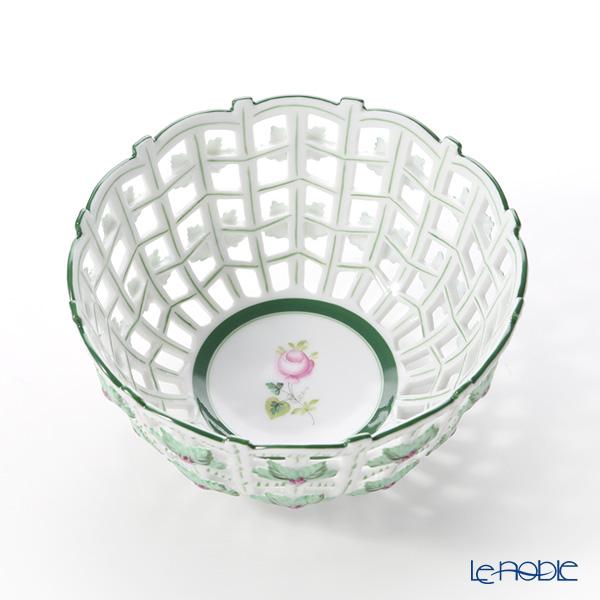 ヘレンド ウィーンのバラ 07473-0-00 バスケット(オープンワーク) 16cm