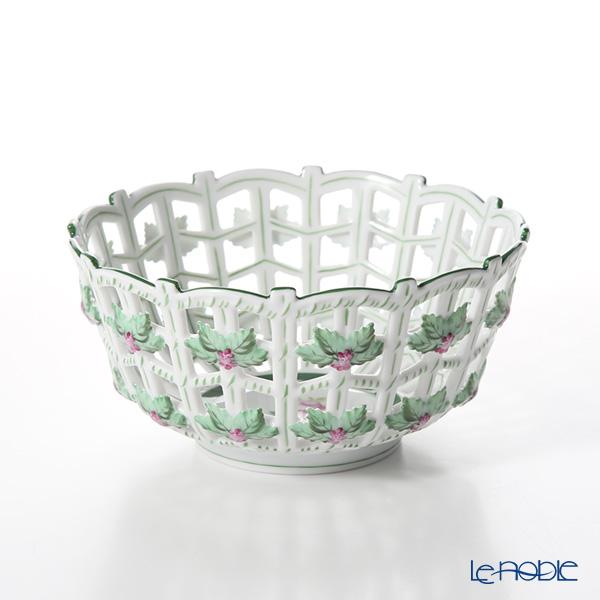 Herend 'Vienna Rose / Vieille Rose de Herend' VRH 07473-0-00 Round Basket (openwork) 16cm