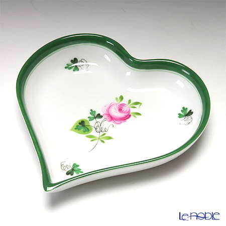 Herend 'Vienna Rose / Vieille Rose de Herend' VRH 07703-0-00 Heart Tray 10cm