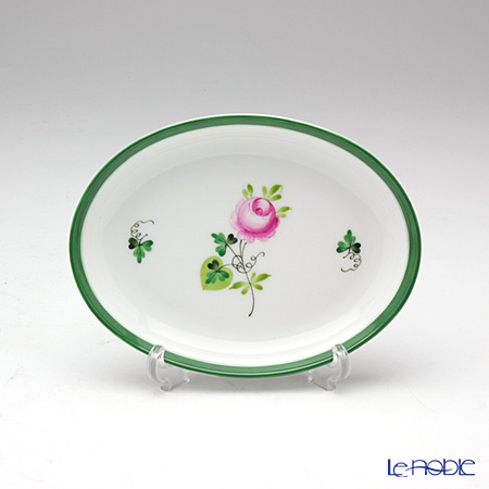 Herend 'Vienna Rose / Vieille Rose de Herend' VRH 07780-0-00/7780 Oval Tray / Ashtray 12x9cm