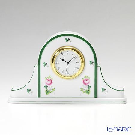 ヘレンド ウィーンのバラ 08081-0-00 テーブルクロック 14cm