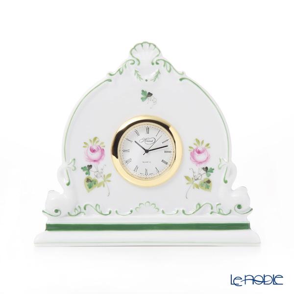 ヘレンド ウィーンのバラ VRH 08083-0-00 テーブルクロック 12.5cm
