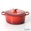 Le Creuset Signature Cocotte Ronde/Round Casserole 24 cm, cherry Red (Cerise), cast iron