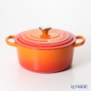 Le Creuset 'Signature' Volcanic Orange [Cast Iron] Round Casserole / Cocotte 22cm