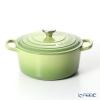 Le Creuset Signature Cocotte Ronde/Round Casserole 22 cm, green (palm) , cast iron