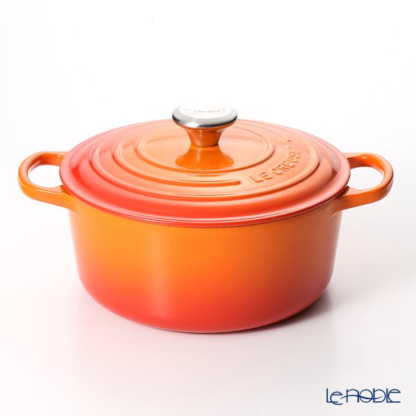 ル・クルーゼ(LeCreuset) シグニチャーココットロンド 24cm オレンジ