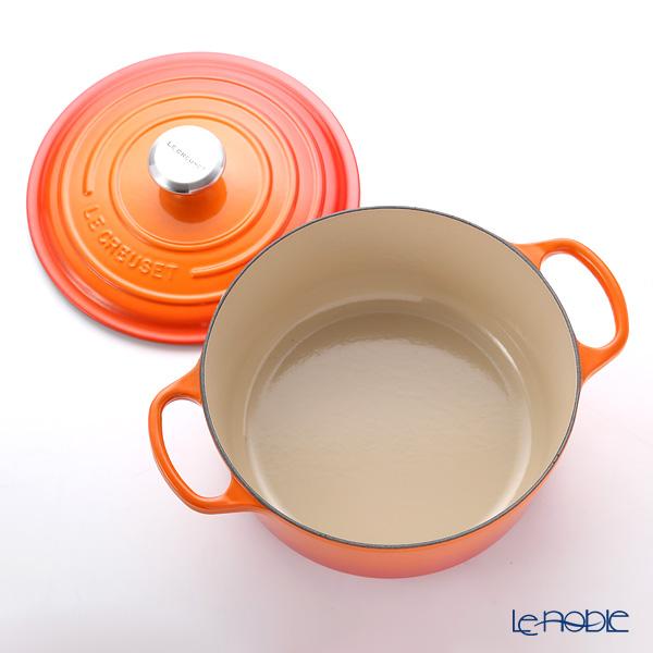 ル・クルーゼ(LeCreuset) シグニチャーココットロンド24cm オレンジ