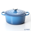 Le Creuset Signature Cocotte Ronde/Round Casserole 24 cm, marseille blue, cast iron