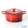 Le Creuset Signature Cocotte Ronde/Round Casserole 22 cm, cherry red (cerise), cast iron