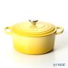 Le Creuset Signature Cocotte Ronde/Round Casserole 22 cm, yellow (citrus), cast iron